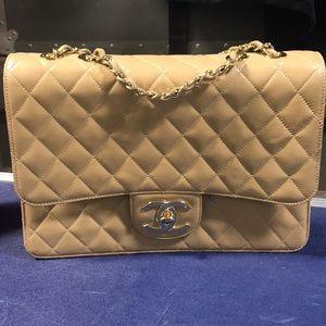 *** Jumbo Vintage Chanel Style Double Flap ***